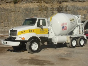Image of cement truck